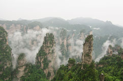 Landscape, Zhangjiajie China. This magic place, seemingly out of this world, is in Zhangjiajie National Forest Park Royalty Free Stock Photo