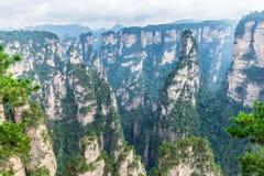 Landscape of Zhangjiajie National Forest Park, UNESCO World Heritage Site, Wulingyuan, Hunan, China stock photo