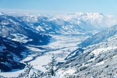 Landscape in Zillertal Arena ski resort in Tyrol Austria. Landscape in Zillertal Arena ski resort in Zillertal in Tyrol. Mayrhofen in Austria in winter in Alps stock photography