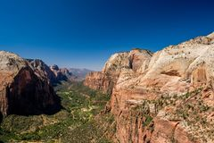 Landscape in Zion National Park. Landscape with rock formations in Zion National Park, Utah, USA Royalty Free Stock Photo