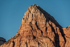 Landscape in Zion National Park. Landscape with rock formations in Zion National Park, Utah, USA Stock Photography