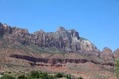 Landscape in Zion National Park. Utah. USA Royalty Free Stock Photography