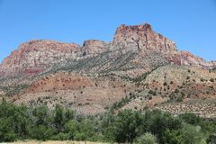 Landscape in Zion National Park. Utah. USA Royalty Free Stock Photo