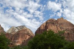 Landscape at Zion National Park. Views of Landscape and Formations at Zion National Park in Utah stock photography