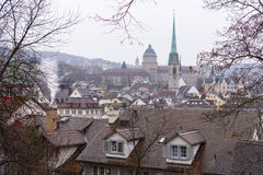 Landscape from Zurich with a church Royalty Free Stock Images