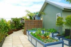 Landscaped back yard Royalty Free Stock Images