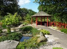 Landscaped Chinese garden stock photography