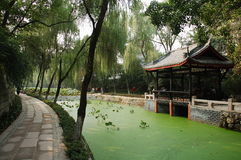 Landscaped Chinese garden Stock Images