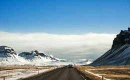 Landscaped, Country Road Highway Royalty Free Stock Photo