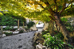 Landscaped Courtyard in Chinese Garden Stock Photos
