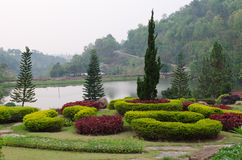 Landscaped Formal Garden Park. Stock Photography