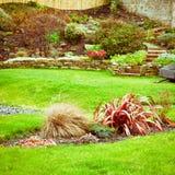 Landscaped garden Stock Photos