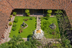 Landscaped garden aerial Royalty Free Stock Photography