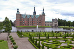 Landscaped garden Frederiksborg palace Stock Images