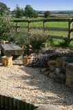 Landscaped garden with gravel and rockery Stock Photography