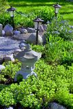 Natural landscaped home garden Royalty Free Stock Photography