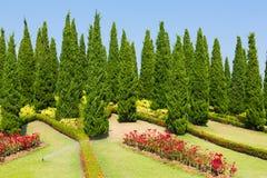 Landscaped garden Royal Flora Ratchaphruek Royalty Free Stock Photography