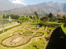 Landscaped gardens in Kashmir Stock Photo