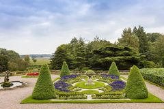 Landscaped gardens in Tatton Park. Stock Photos