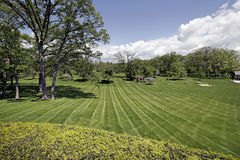 Landscaped grounds of luxury home Royalty Free Stock Photo