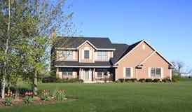 Landscaped Homestead Stock Photo