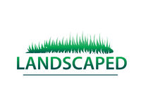 Landscaped illustration. Landscaped phrase illustration, icon design, isolated on white background royalty free illustration