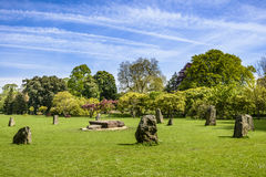 Landscaped park in Cardiff Stock Photo