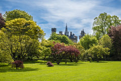 Landscaped park in Cardiff Royalty Free Stock Images