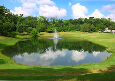 Landscaped pond Stock Photography