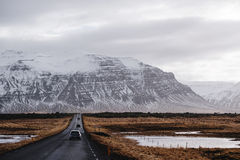 Landscaped, roadtrip on the countryside rode in Iceland Stock Images