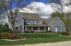 Landscaped Upscale Home Stock Images