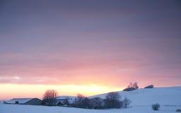 Landscapefarm do inverno Fotos de Stock
