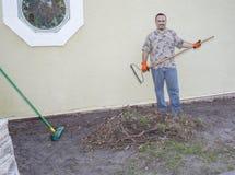 Κηπουρός, Landscaper Στοκ φωτογραφία με δικαίωμα ελεύθερης χρήσης