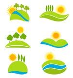 Landscapes. Landscape icons for design. vector illustration Stock Images