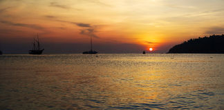 Landscapes of the Adaman sea Royalty Free Stock Photos