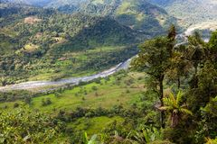 Landscapes of the Andean Choco region. In northwestern Ecuador Royalty Free Stock Photo