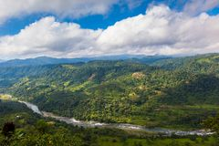 Landscapes of the Andean Choco region. In northwestern Ecuador Royalty Free Stock Images