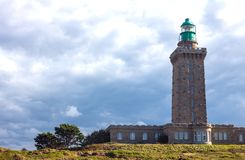 Landscapes and architectures of Brittany. Cap Frehel, France, view of the new lighthouse Royalty Free Stock Photography