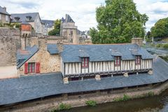 Landscapes and architectures of Brittany. Vannes, France, view of the ancient Washhouse Royalty Free Stock Image