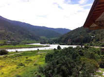 Landscapes in Bhutan Royalty Free Stock Photos
