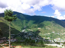 Landscapes in Bhutan Stock Photo