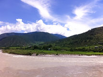 Landscapes in Bhutan Royalty Free Stock Images