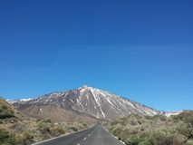 Landscapes of Canadas del Teide in winter Royalty Free Stock Image