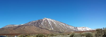 landscapes of Canadas del Teide in winter Royalty Free Stock Photo