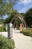 Landscapes in Children adventure garden Dallas. Interior of Children adventure garden in Dallas Arboretum, TX USA Stock Image