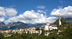 Landscapes of the city of Belluno, a beautifull autumn day Stock Image