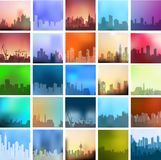 Landscapes. Of the city set a large number of urban types of different colors and styles