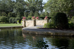 Landscapes design in Dallas Arboretum TX. Interior of beautiful Dallas Arboretum, TX USA Royalty Free Stock Photo