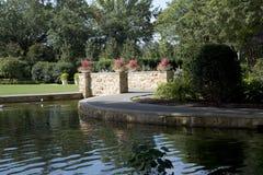 Landscapes design in Dallas Arboretum TX Royalty Free Stock Photo