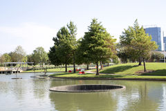 Landscapes design  in Hall Park Frisco Royalty Free Stock Photography